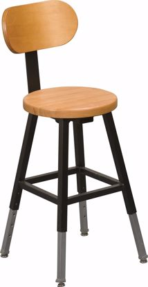 Picture of LAB STOOL BACK (Black) (1/carton)