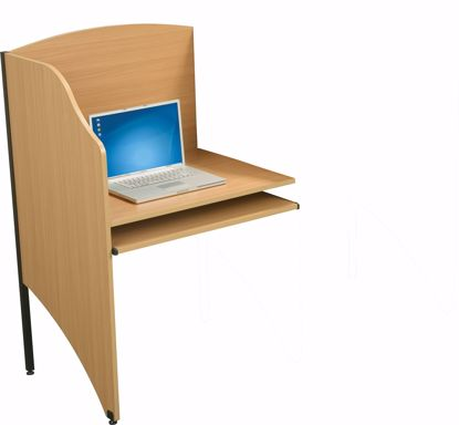 """Picture of DELUXE 3/4"""" HPL ADD-A-CARREL (Teak)"""