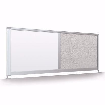 "Picture of Desktop Privacy Panel - 32"" Pebbles Vinyl Lt Quarry"