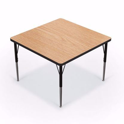 "Picture of Activity Table - 36"" Square - Amber Cherry Top Surface - Black Edgeband Addt'l Colors avail"