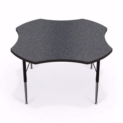 "Picture of Activity Table - 48"" Clover - Amber Cherry Top Surface - Black Edgeband Addt'l Colors avail"