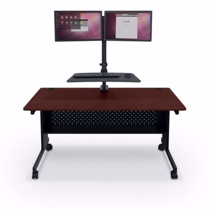 Picture of Up-Rite Rear Mount Workstation - Dual Monitor Mount