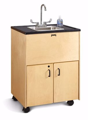 """Picture of Jonti-Craft® Clean Hands Helper - 38"""" Counter - Stainless Steel Sink"""