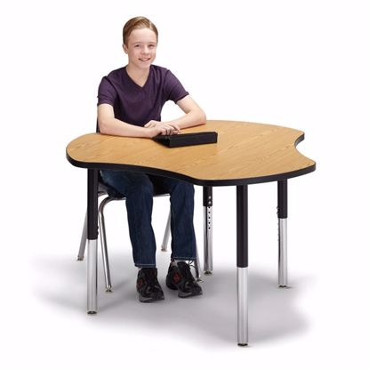 "Picture of Berries® Collaborative Hub Table - 44"" X 47"" - Oak/Black"