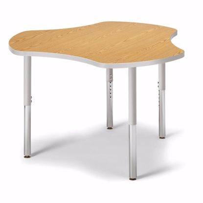 "Picture of Berries® Collaborative Hub Table - 44"" X 47"" - Oak/Gray"