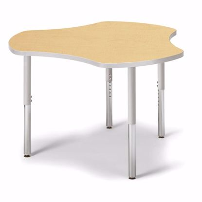 "Picture of Berries® Collaborative Hub Table - 44"" X 47"" - Maple/Gray"