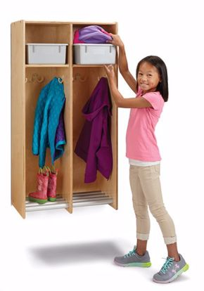 Picture of Jonti-Craft® 2 Section Hanging Locker - with Platinum Tubs