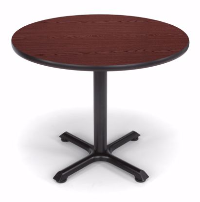 Picture of 36 INCH ROUND MAHOGANY TOP/ BLK XT BASE