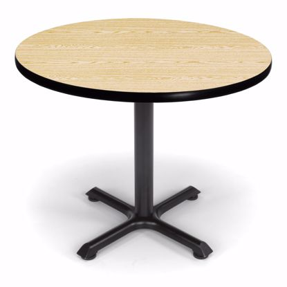 Picture of 36 INCH ROUND OAK TOP/ BLK XT BASE