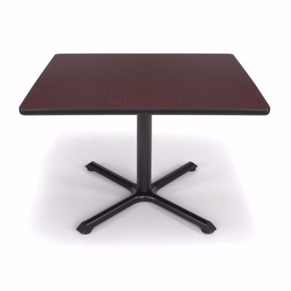 Picture of 36 INCH SQUARE MAHOGANY TOP/ BLK XT BASE