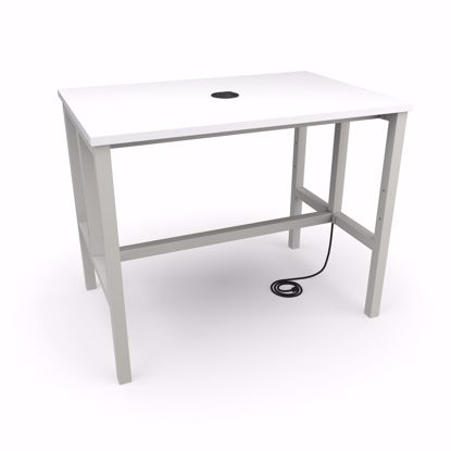 Picture of ENDURE 9004 TABLE ONLY GRAY FRAME WHT TOP