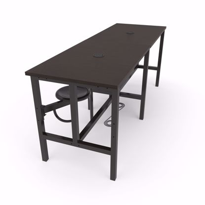 Picture of ENDURE 9008 TABLE W/4 DARKVEIN SEATS WLNT TOP