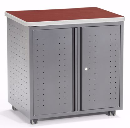 "Picture of 66746 LOCKING UTILITY TBL 30"" x 24"" - CHERRY"
