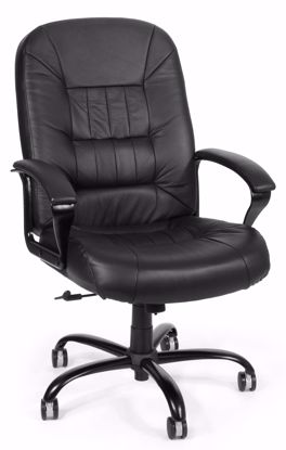 Picture of BIG & TALL EXEC BLACK LEATHER CHAIR