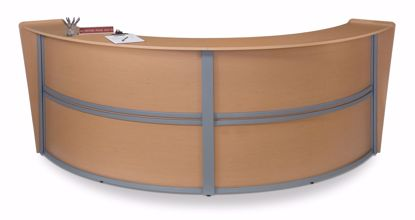 Picture of DOUBLE CURVED RECEPTION STATION - MAPLE