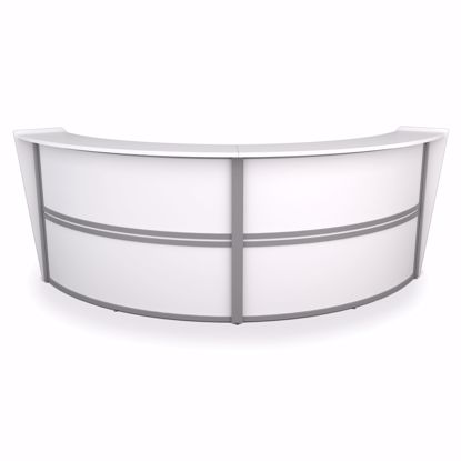 Picture of DOUBLE CURVED RECPT STATION WHITE