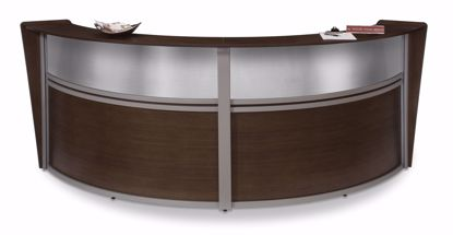 Picture of DOUBLE MARQUE PLEXI STATION - WALNUT