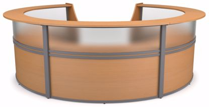 Picture of 5-UNIT MARQUE PLEXI STATION - MAPLE