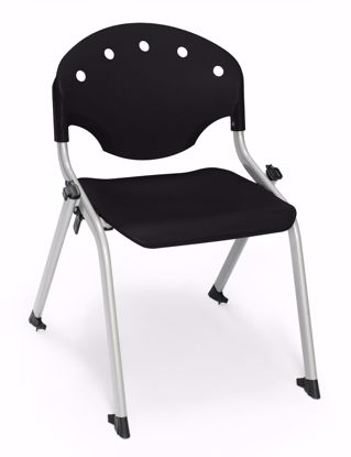 Picture of 4 PACK STUDENT CHAIR P0 - SILVER/BLACK