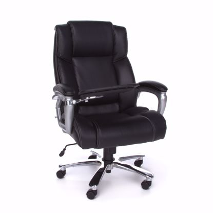 Picture of BIG & TALL TABLET CHAIR BLACK BONDED LEATHER