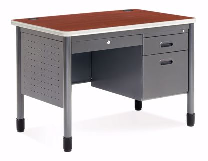 Picture of 25X42 Sales Desk w/CD/Gry Fr/Cherry