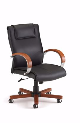 Picture of APEX MID BACK EXECUTIVE LEATHER-CHERRY