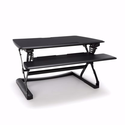 Picture of SIT TO STAND WITH KEYBOARD TRAY BLACK