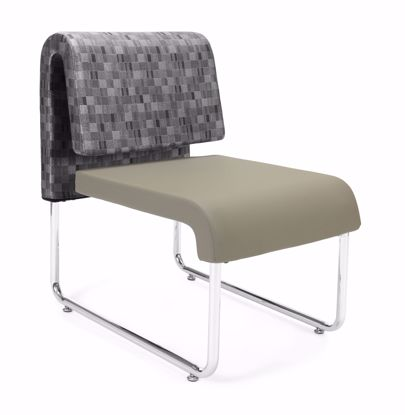 Picture of UNO GEOMETRICS CHAIR NICKEL - PU TAUPE
