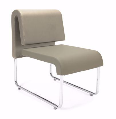Picture of UNO RECEPTION CHAIR - PU TAUPE