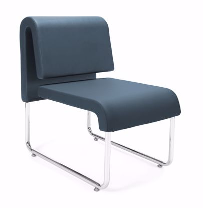 Picture of 2 PACK UNO RECEPTION CHAIR - PU NAVY