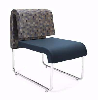Picture of UNO GEOMETRICS CHAIR BLUEJAY - PU NAVY