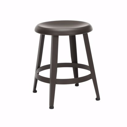 "Picture of Edge Metal Stool 18"" High Antique Brown"