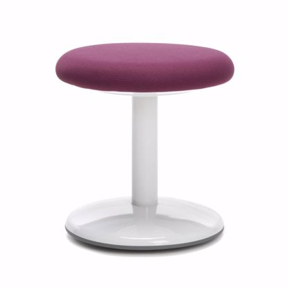 """Picture of ORBIT ACTIVE STOOL 14"""" HIGH PURPLE FABRIC"""