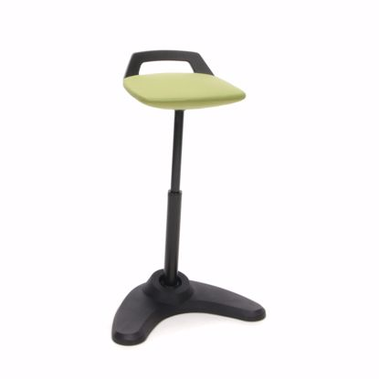 Picture of VIVO HEIGHT ADJ PERCH STOOL BLK FRAME GRN ST