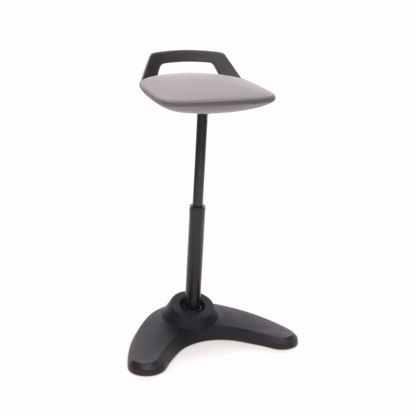 Picture of VIVO HEIGHT ADJ PERCH STOOL BLK FRAME GRY ST