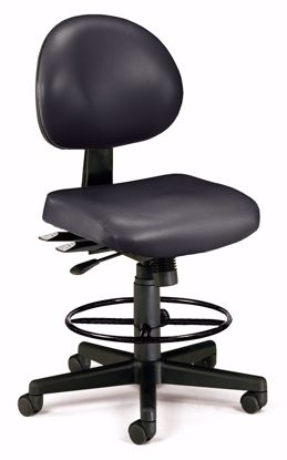 Picture of 24/7 TASK CHAIR W/DK - BLACK VINYL AM