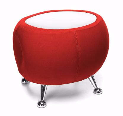 Picture of JUPITER TABLE 2312-RED W/ WHITE TOP