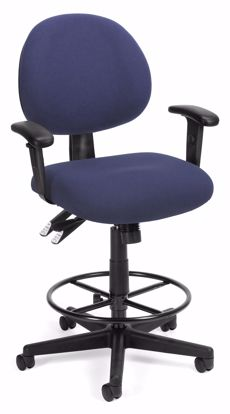 Picture of 24/7 COMP TASK CHAIR W/ARMS+DK -202-BLUE