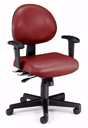 Picture of 24/7 TASK CHAIR W/ARMS-603-WINE VINYL