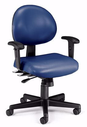 Picture of 24/7 TASK CHAIR W/ARMS-605-NAVY VINYL