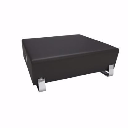 Picture of 4004C SQUARE USB BENCH MIDNITE W CHROME FRAME