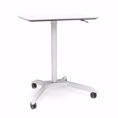 Picture of MESA HEIGHT ADJUSTABLE MOBILE PODIUM WHITE