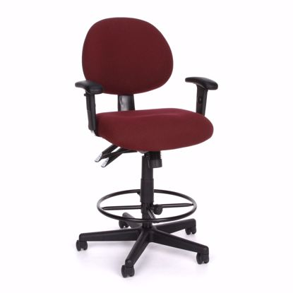Picture of 24/7 COMP TASK CHAIR W/ARMS+DK -201-BURG