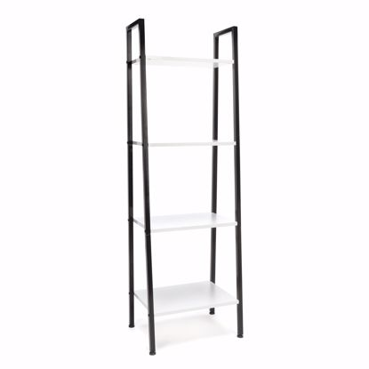 Picture of ESSENTIALS 4 Shelf Bookshelf BLK-WHITE