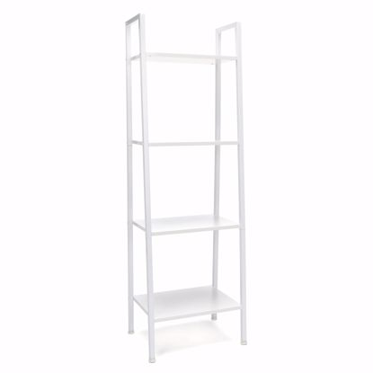 Picture of ESSENTIALS 4 Shelf Bookshelf WHITE-WHITE