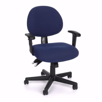 Picture of 24/7 COMPUTER TASK CHAIR W/ARMS-202-BLUE