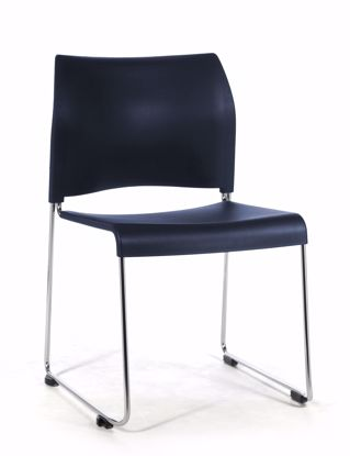 Picture of NPS® Cafetorium Plastic Stack Chair, Navy