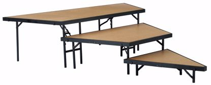 "Picture of NPS®  3 Level Stage Pie Set 48"" Width, Hardboard Floor"