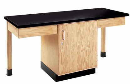 Picture of 2 STUDENT CUPBOARD TABLE EPOXY TOP