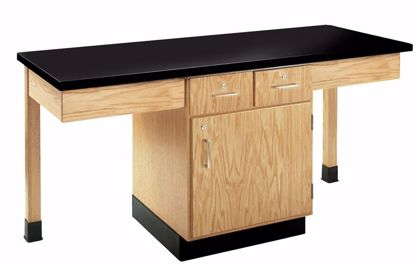 Picture of 2 STUDENT CUPBOARD TABLE EPOXY